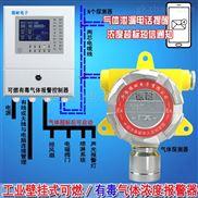 烤漆房天那水探测报警器,气体报警探测器与防爆电磁阀门怎么连接