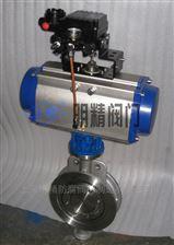 D673H型气动对夹硬密封蝶阀