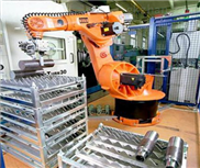 上下料机器人应用(钢材)