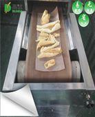 肉皮微波膨化设备隧道式猪皮膨化机