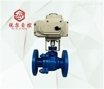 Q94F46電動法蘭襯氟球閥,上海銳爾閥門廠