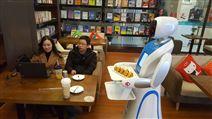 山东曲阜刘一手火锅店餐饮餐厅送餐机器人