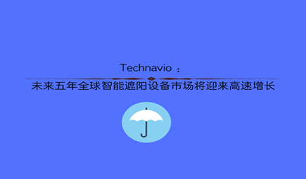 Technavio :未来五年全球智能遮阳设备市场将迎来高速增长