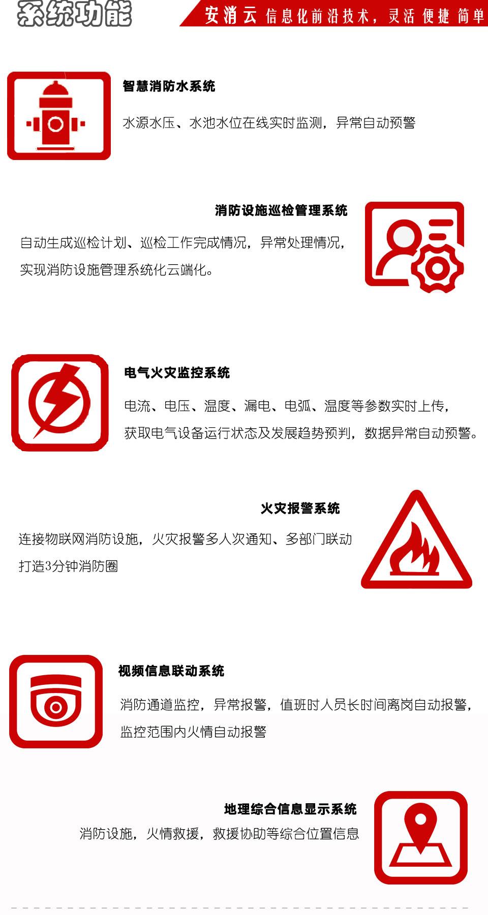 陕西智慧消防物联网系统功能图